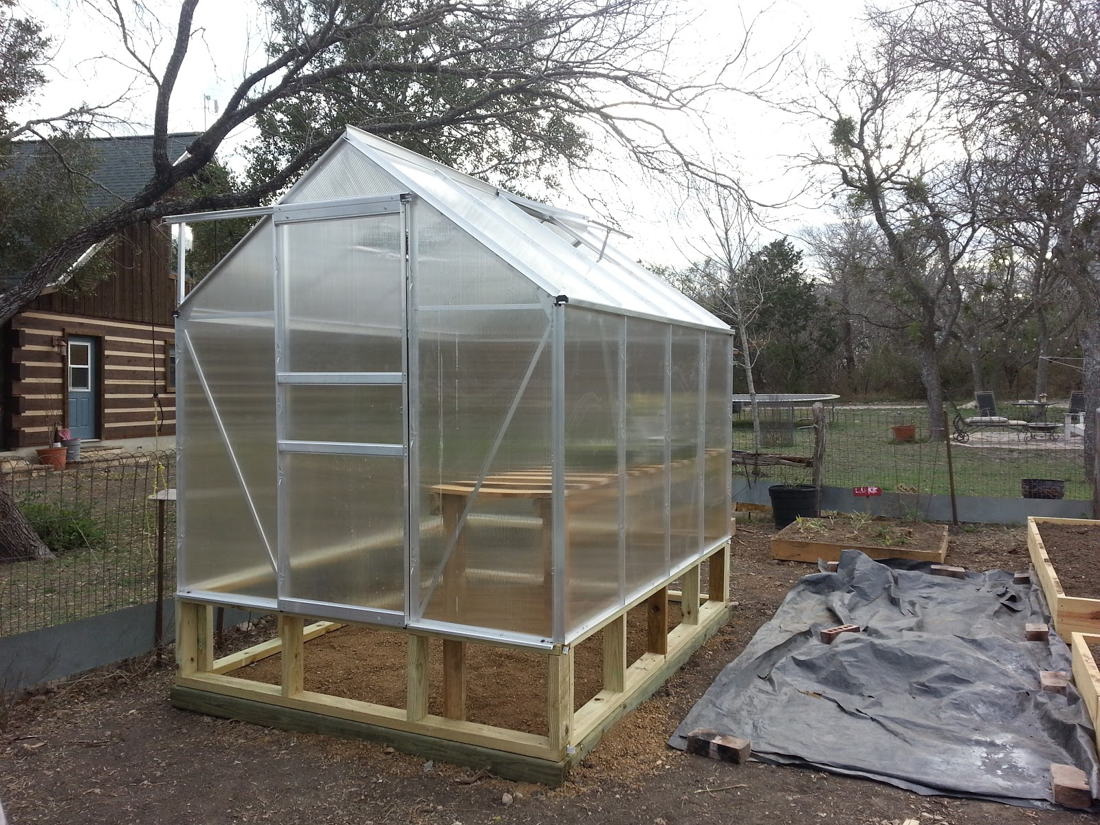 Harbor Freight 6x8 Greenhouse : Harbor freight greenhouse assembly daddykirbs farm