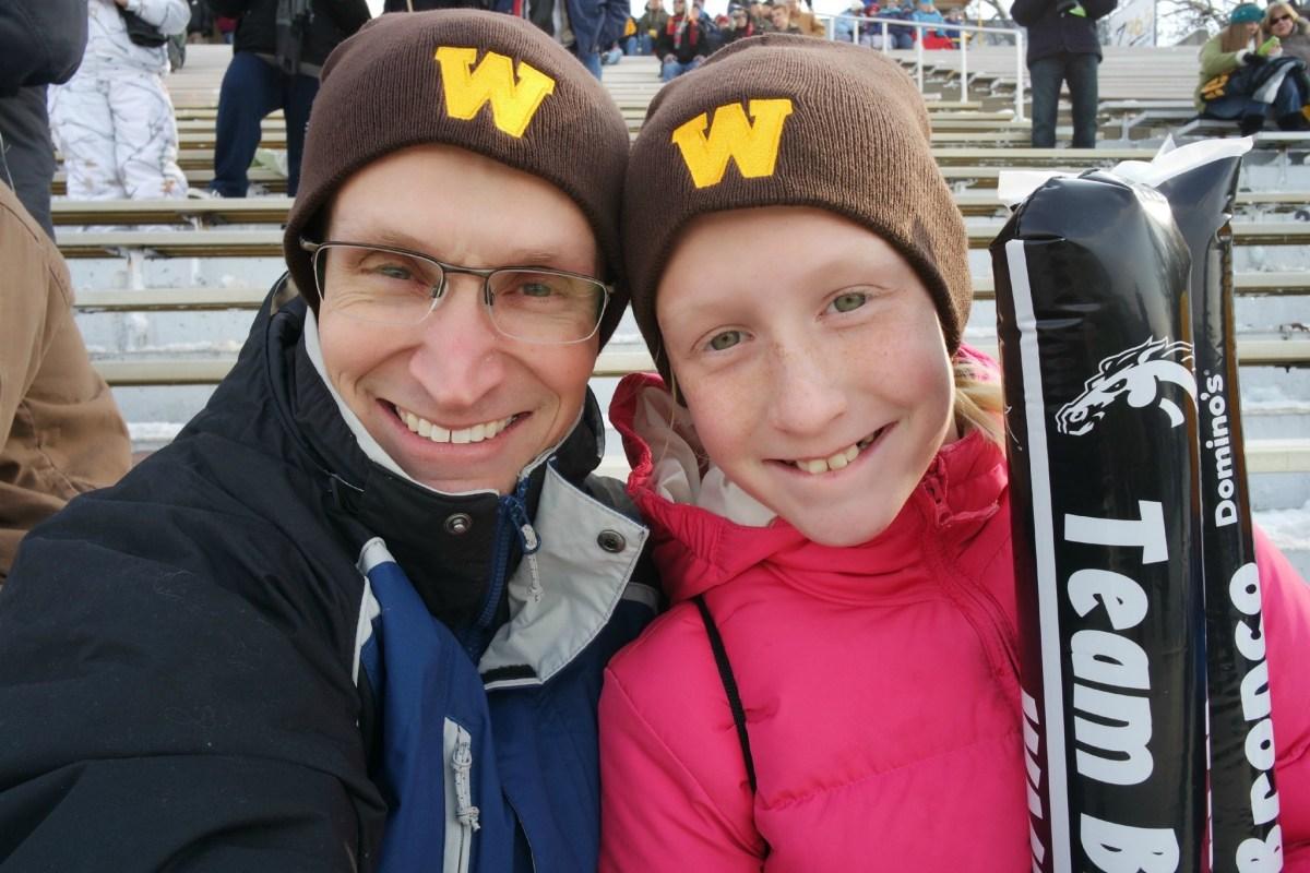 Go Western Michigan University! Fun game, but cold #nxmini #imagelogger #dadchat #football