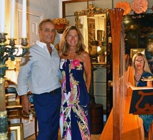 Craig and Deborah Mayor in their Gallery
