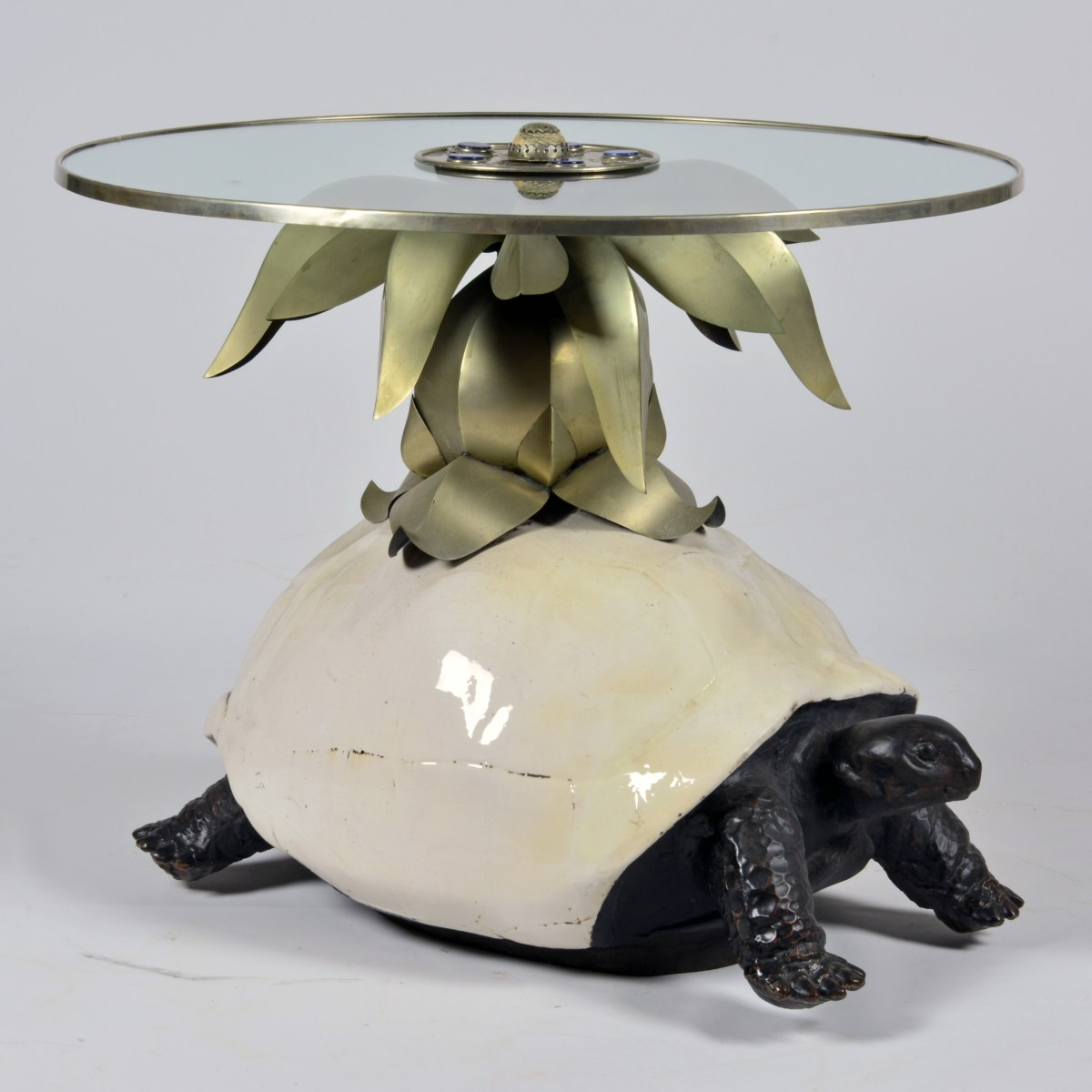 A tole peinte and composition anthony redmile turtle coffee table a tole peinte and composition anthony redmile turtle coffee table decorative arts fine antiques dafa geotapseo Gallery