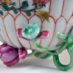 Chinese Export Petal Footed Cup and Saucer
