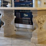 Carved Marble Console Table