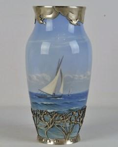Royal Copenhagen Sterling Mounted Vase