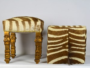 Zebra Covered Benches