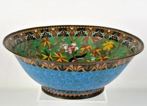 Japanese Bronze Cloisonne Bowl
