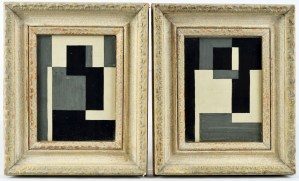 Pair of Abstracts, Ben Nicholson