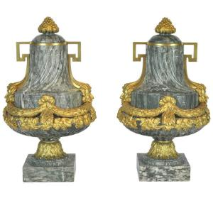 Marble and Gilt Cassolettes