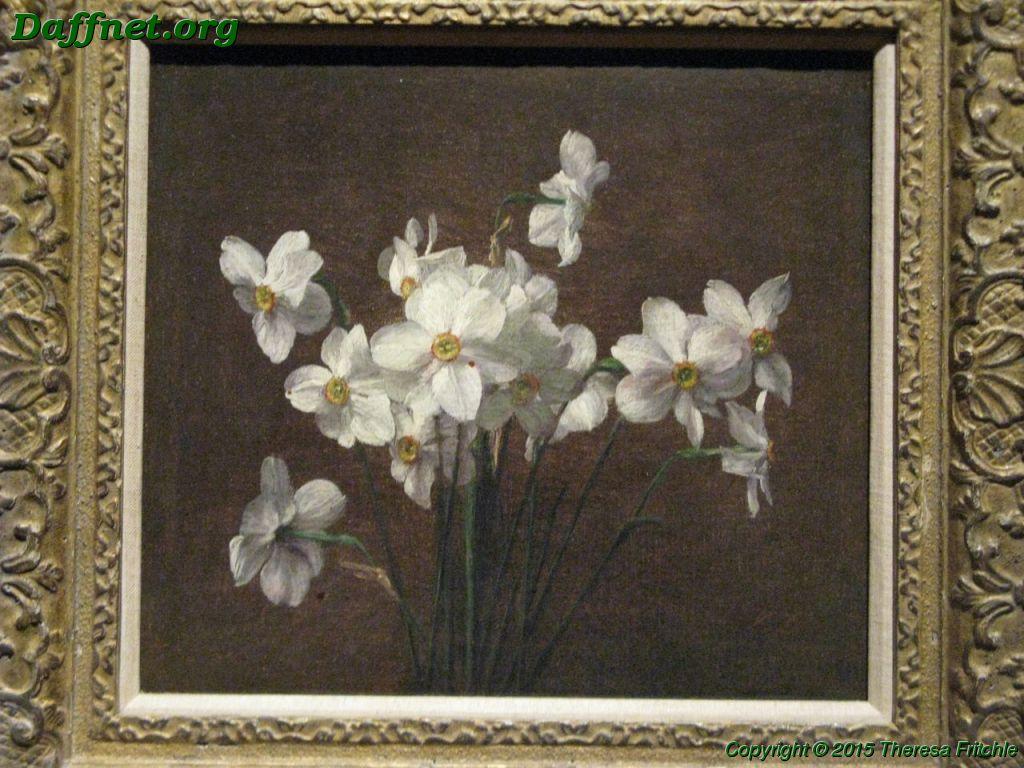 Fantin Latour Narcissus Painting Daffnetorg