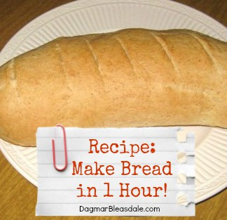 Dagmar's Home: make bread in 1 hour recipe