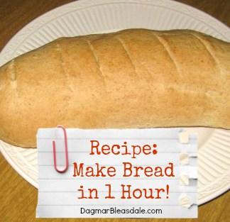 Dagmar's Home: make bread in 1 hour recipe