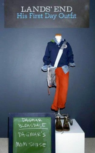 Lands' End back to school outfit for boy