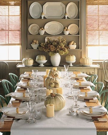 easy DIY Thanksgiving table setting