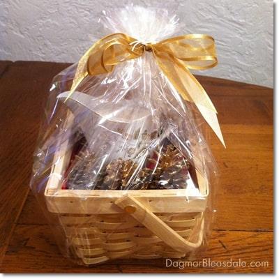 Dagmar's Home Decor gift basket, DagmarBleasdale.com