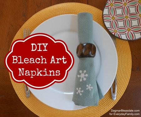 Dagmar's Home: DIY bleach art napkins