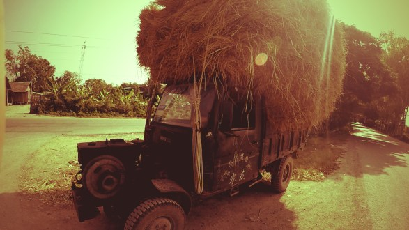 old truck in myanmar, burmese vehicle