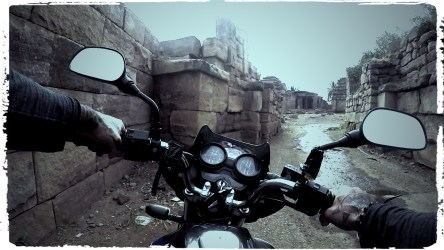 motorcycle through India, Aihole, Pattadakal, Badami, Ruins