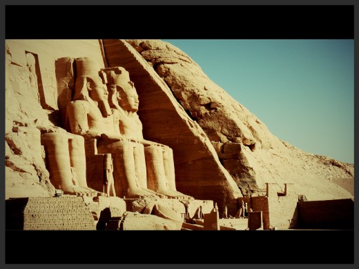 Abu Simbel Temple in Southern Egypt near the Sudanese border.