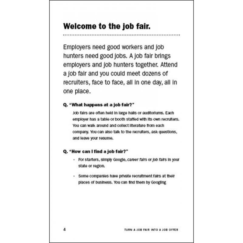 Turn a Job Fair Into a Job Offer - what to ask at a job fair