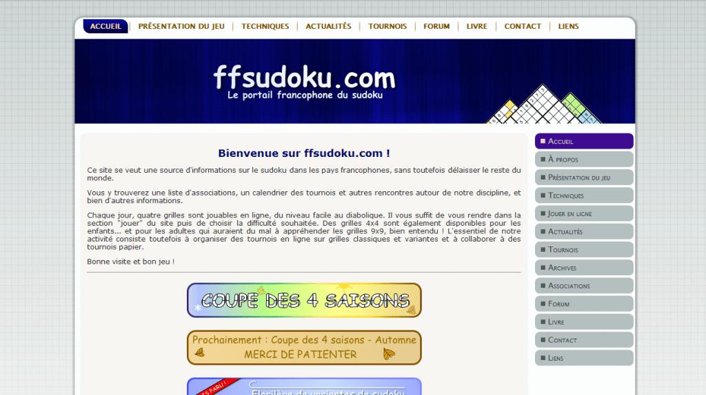 Site officiel de la fédération française de sudoku