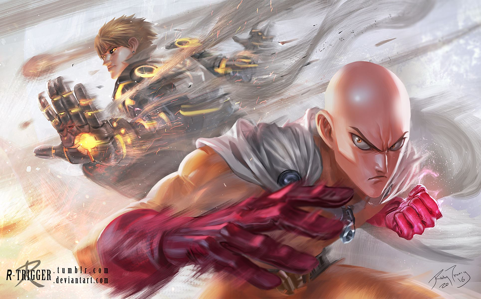 Fairy Tail Wallpaper Hd Strongest Warriors Saitama And Genos Daily Anime Art