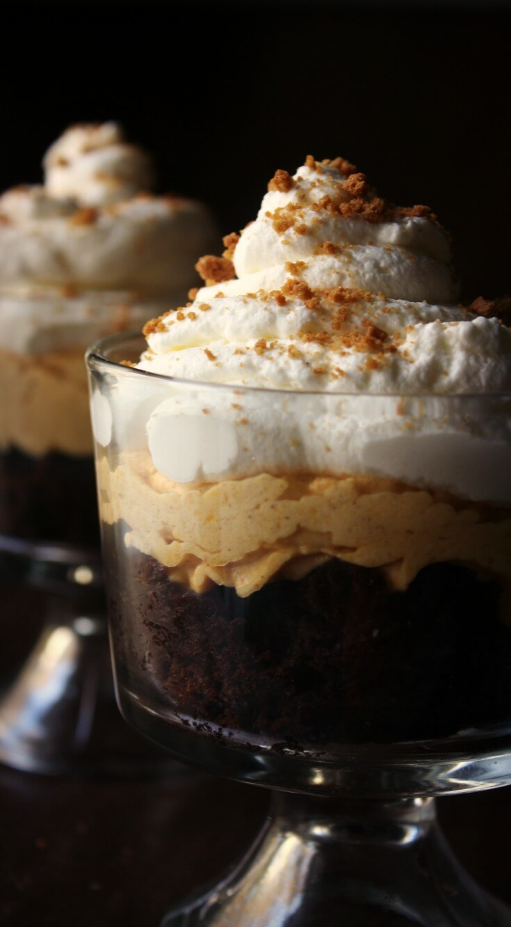 Brownie Pumpkin Cheesecake Trifle - Daily Appetite