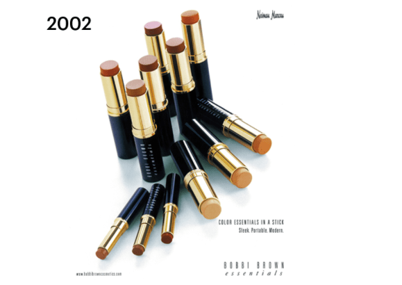 An early Neiman Marcus ad for Bobbi Brown Skin Foundation Stick. Photo from EverythingBobbi.com