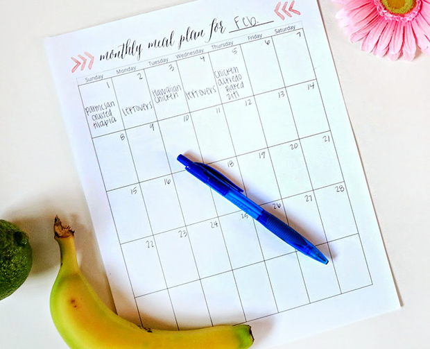 monthly planning template