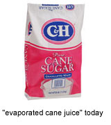Evaporated Cane Juice is Sugar