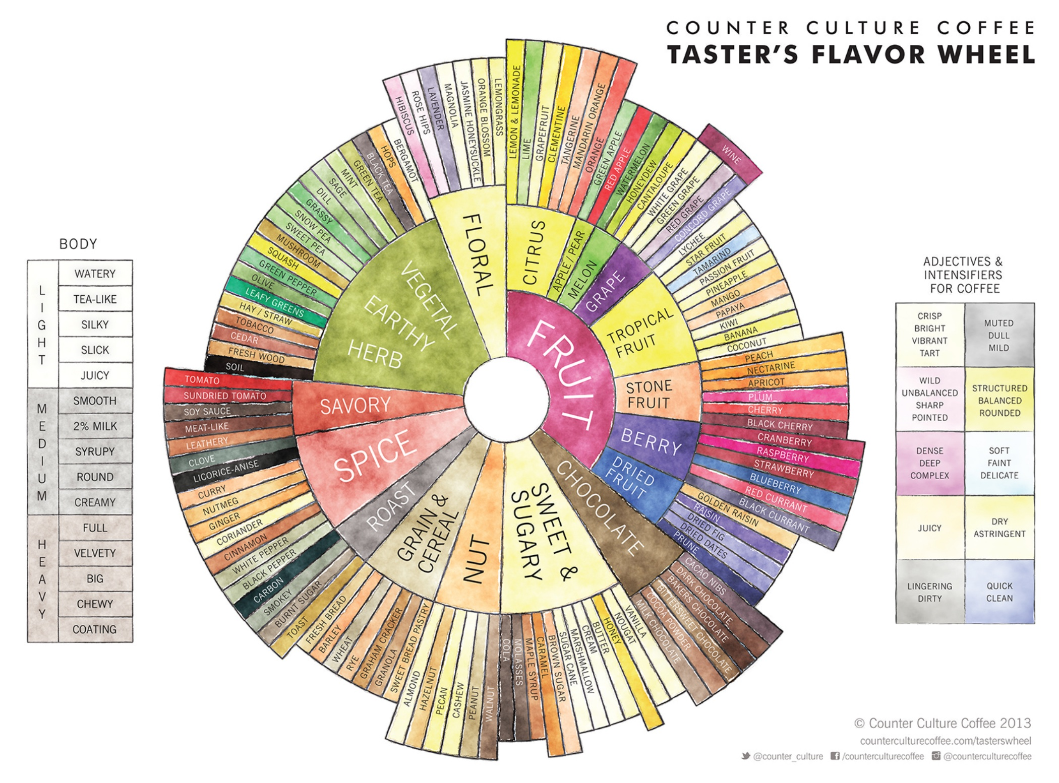 The New Taster's Flavor Wheel: A Recalibration of Coffee Dialogue | Daily Coffee News by Roast Magazine