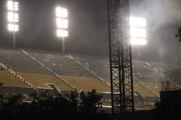 Tiger Stadium after the game.
