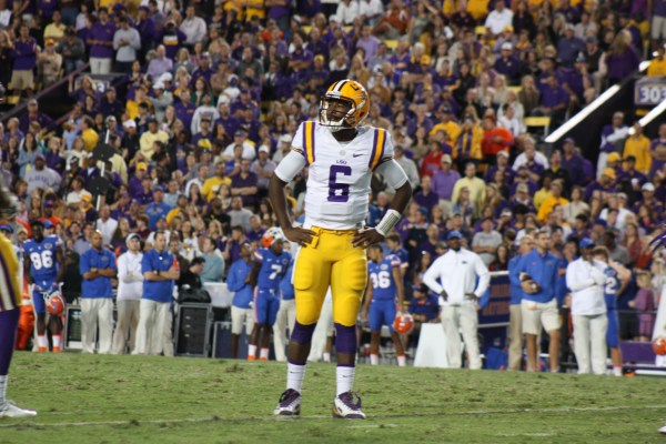 A good night for LSU qb Brandon Harris 13/17 202 yards, and 2 tds.