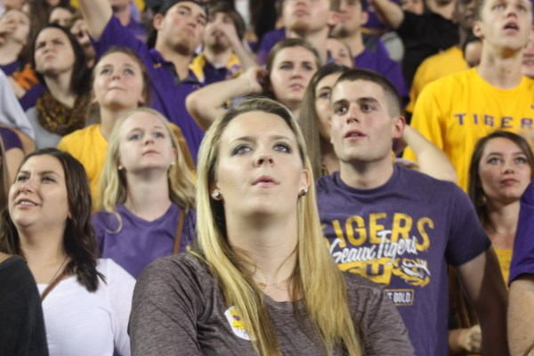 LSU Students enjoying the LSU win over the Aggies