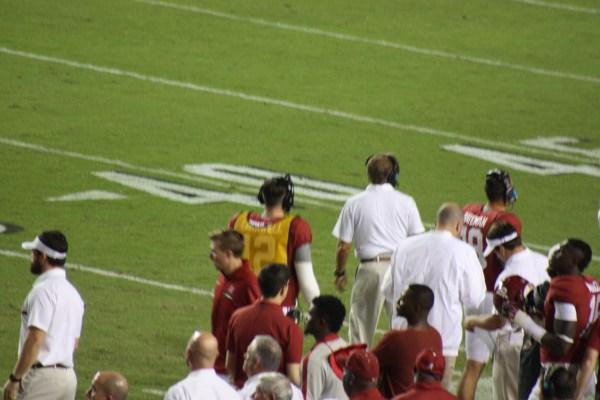 Nick Saban on the sidelines.