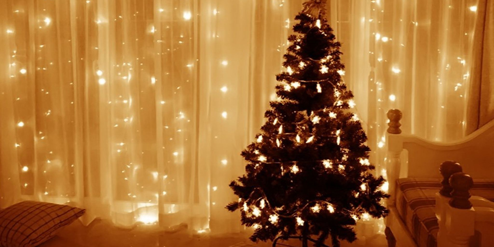 How To Make Curtain Lights Make A Magical Wall Of Holiday Glow With These 19 Light Curtains