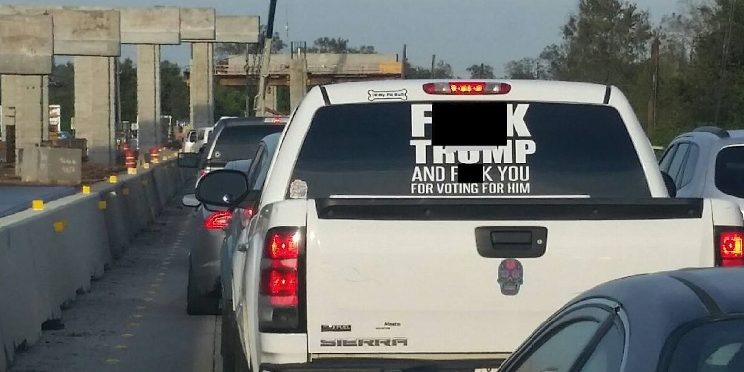 Trump Bumper Sticker You Can Now Buy That Viral F K Trump Car Sticker For Just 3