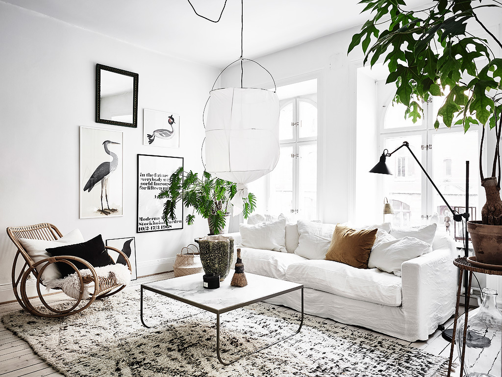Swedish Decorating Scandinavian Apartment With Bohemian Vibes Daily Dream Decor