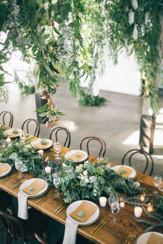 Event Deko 7 Gorgeous Table Settings That Make Greenery The Perfect