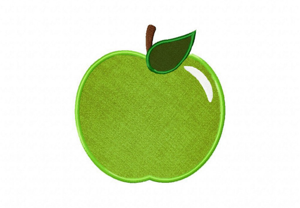 Applique Vintage Green Apple Includes Both Applique And Stitched | Daily
