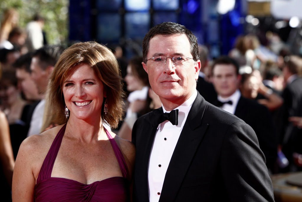 Image result for young Stephen Colbert and his wife