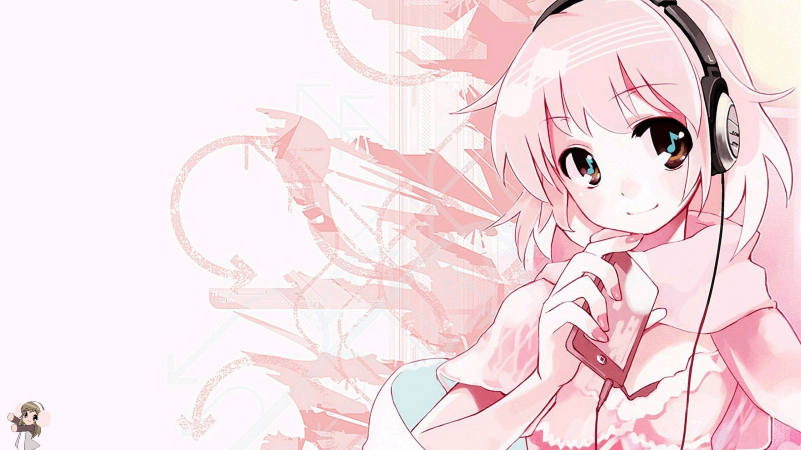 Anime Girl Epic Wallpapers Pink Anime Music Wallpaper Desktop Hd Wallpaper