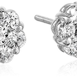 14k-White-Gold-Diamond-Flower-Stud-Earrings-1-cttw-H-I-Color-SI2-I1-Clarity-0