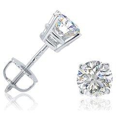 IGI-Certified-14K-White-Gold-Round-Diamond-Stud-Earrings-1cttw-with-Screw-Backs-0