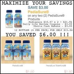 PediaSure Maximized Savings! Thanks to Ibotta and Website Coupons