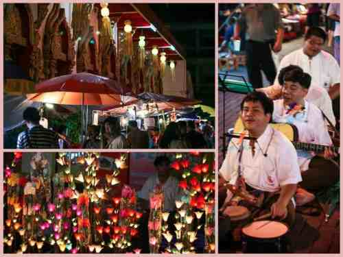 Night markets in Chiang Mai, Thailand