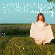 simple strategies to support creativity