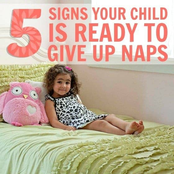 5 signs your child is ready to give up naps