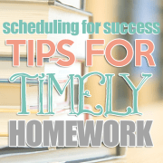 Tips for Timely Homework
