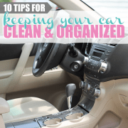 10 Tips for Keeping your Car Clean and Organized