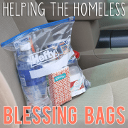 Helping the Homeless Blessing Bags