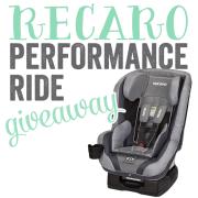 Recaro Performance Ride Giveaway
